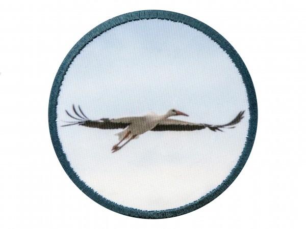 """Aufnäher """"fliegender Storch"""""""