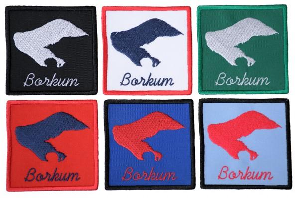 Aufnäher Borkum - 6 Farben zur Auswahl