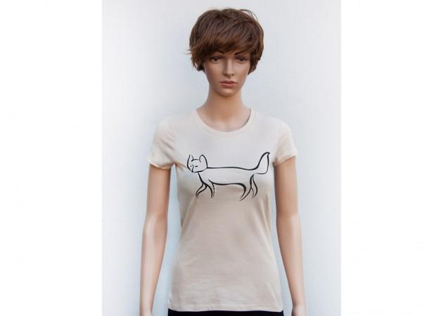 """Fair Trade Shirt Frauen """"Fuchs"""" - viele Farben zur Auswahl"""
