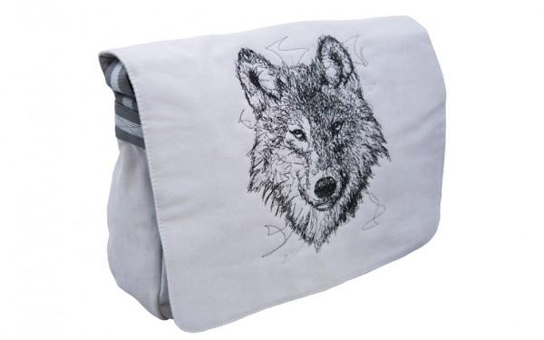 """Umhängetasche """"Wolf"""" groß"""