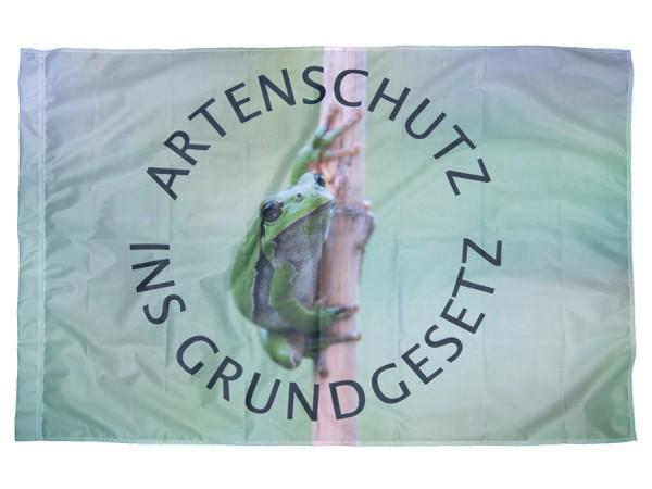 Fahne Artenschutz ins Grundgesetz - Laubfrosch