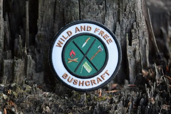 "Aufnäher ""Wild And Free - Bushcraft"""